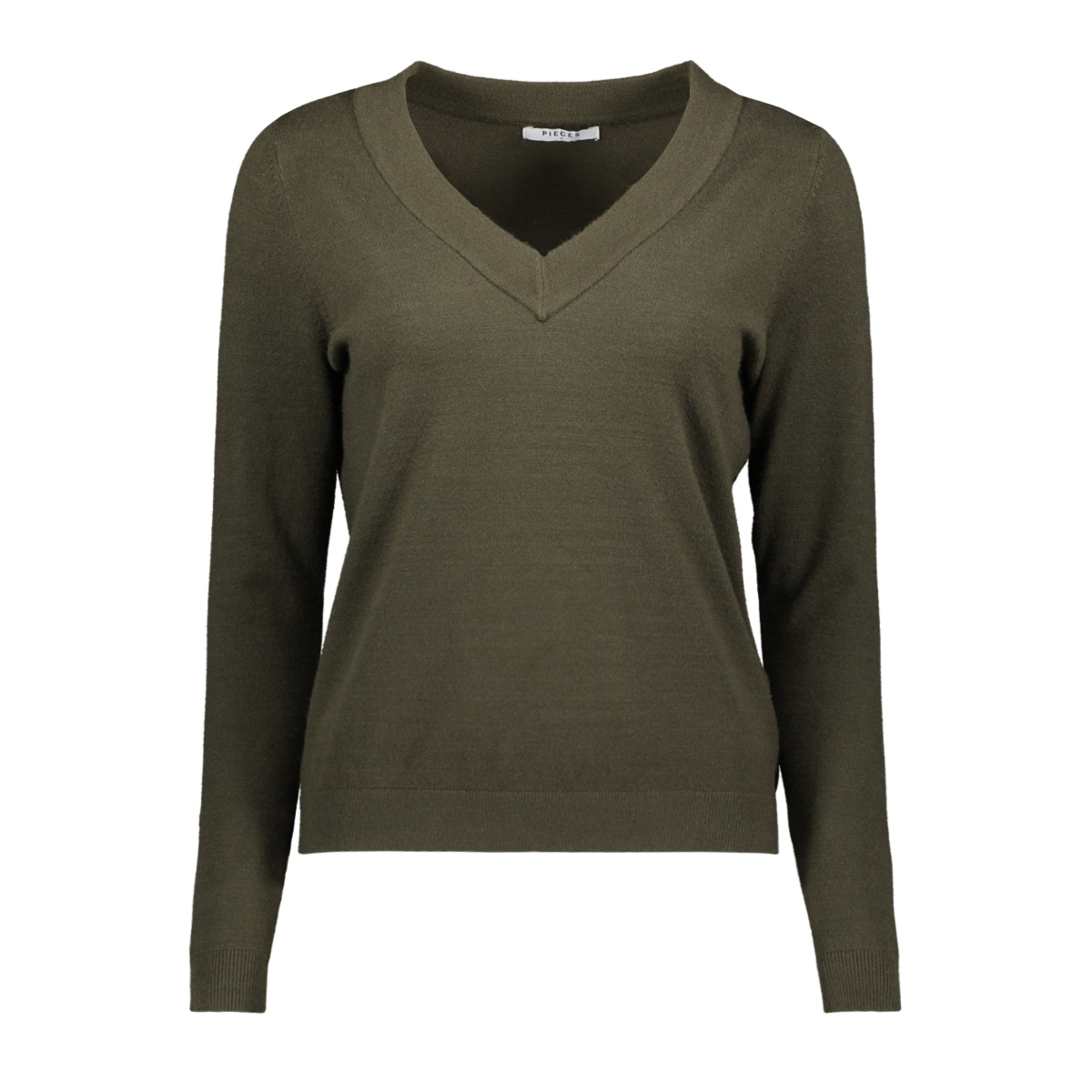 pckalissa ls v-neck knit 17098914 pieces trui forest night