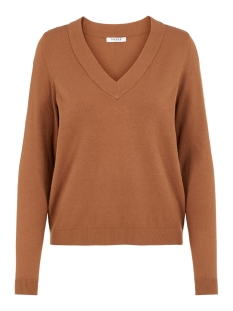 Pieces Trui PCKALISSA LS V-NECK KNIT 17098914 Toasted Coconut