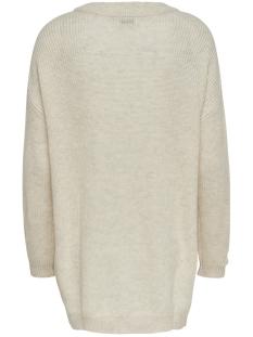 jdyportia l/s long pullover knt 15178976 jacqueline de yong trui egret/melange