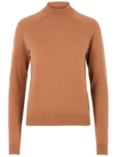 Pieces Trui PCKALISSA LS HIGH NECK KNIT NOOS 17093409 Toasted Coconut