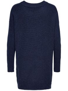 jdyportia l/s long pullover knt 15178976 jacqueline de yong trui sky captain/melange