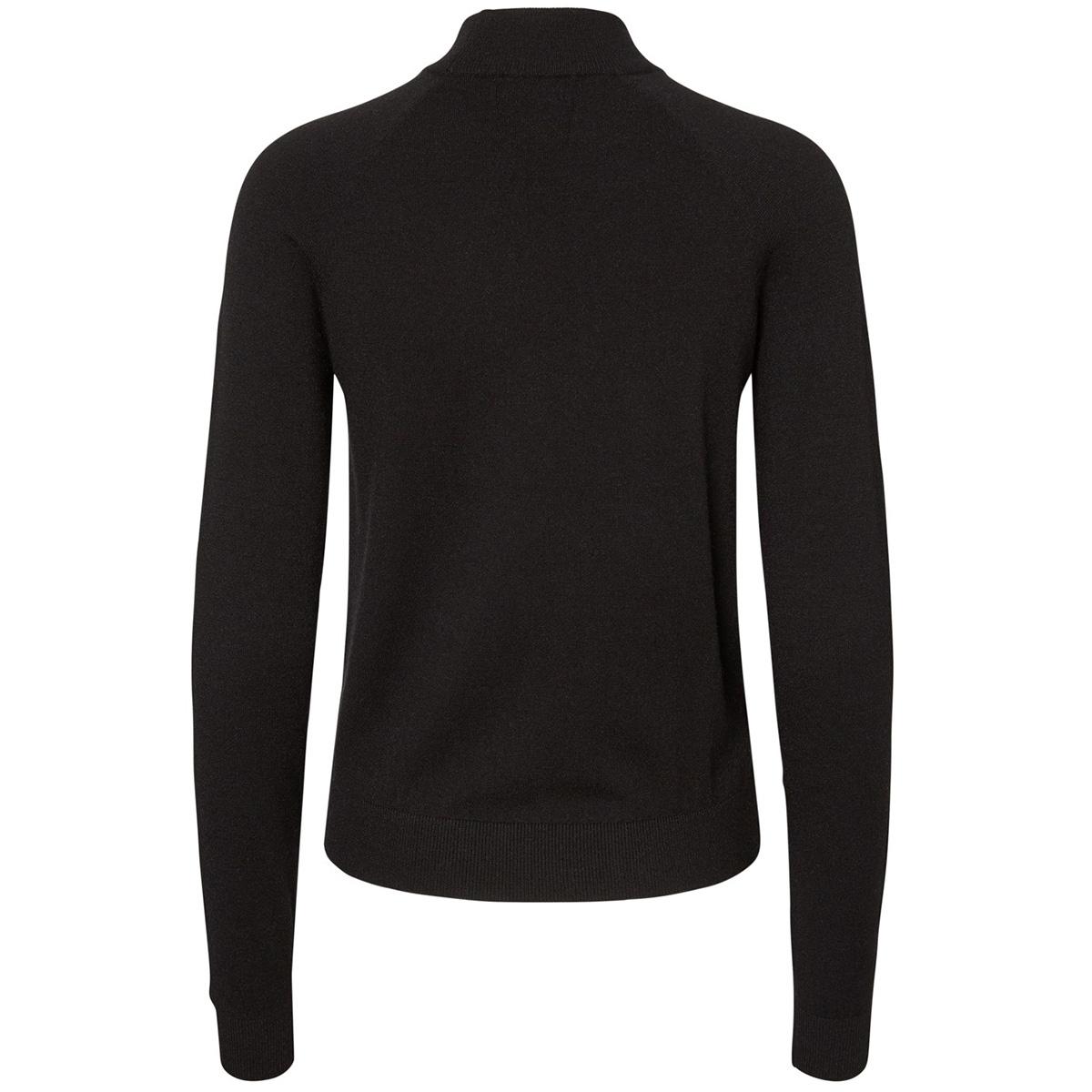 pckalissa ls high neck knit noos 17093409 pieces trui black