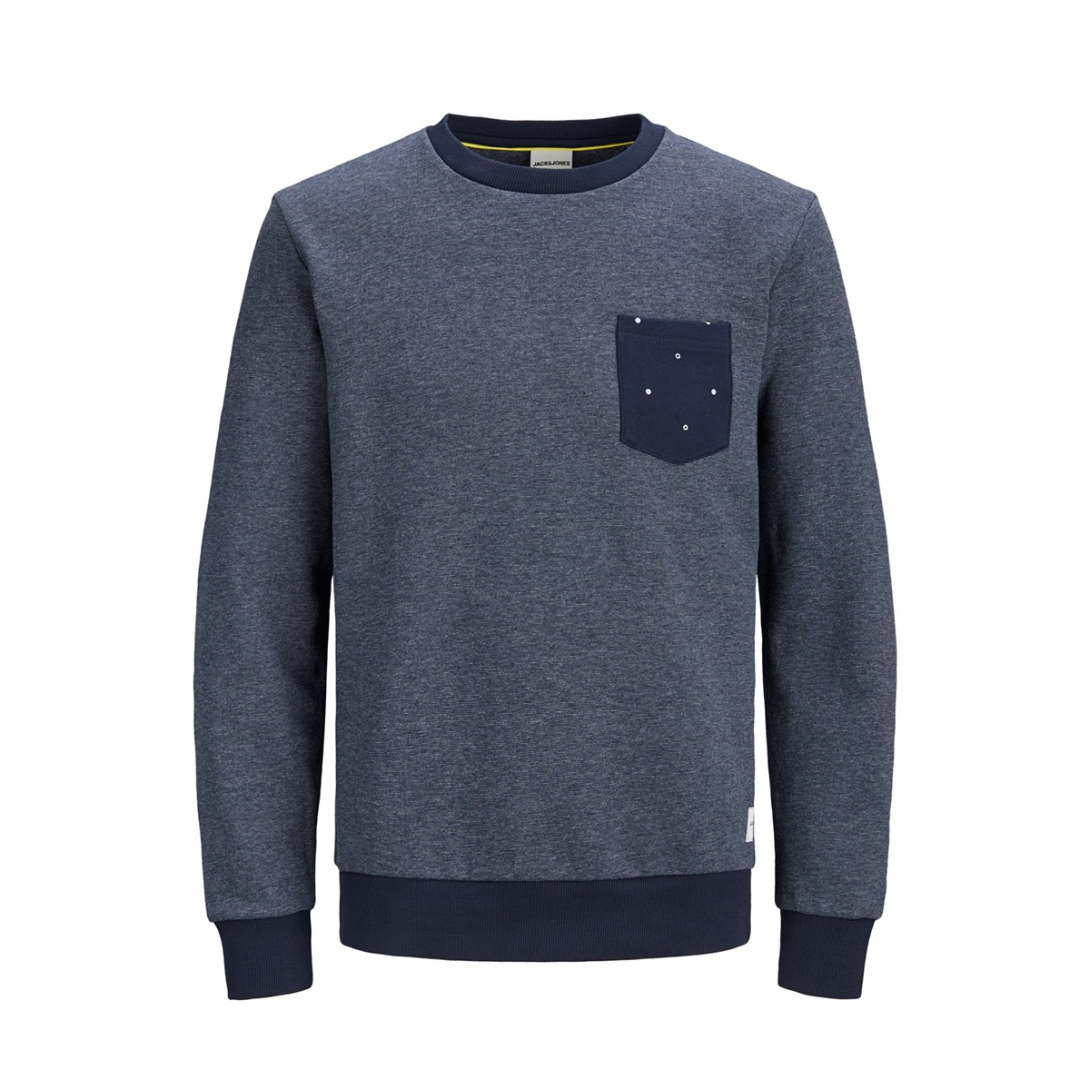 jcohex sweat crew neck 12158831 jack & jones sweater sky captain/ melange
