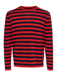Only & Sons Trui ONSALEX 12  CREW NECK KNIT 22014779 Pompeian Red/BLACK