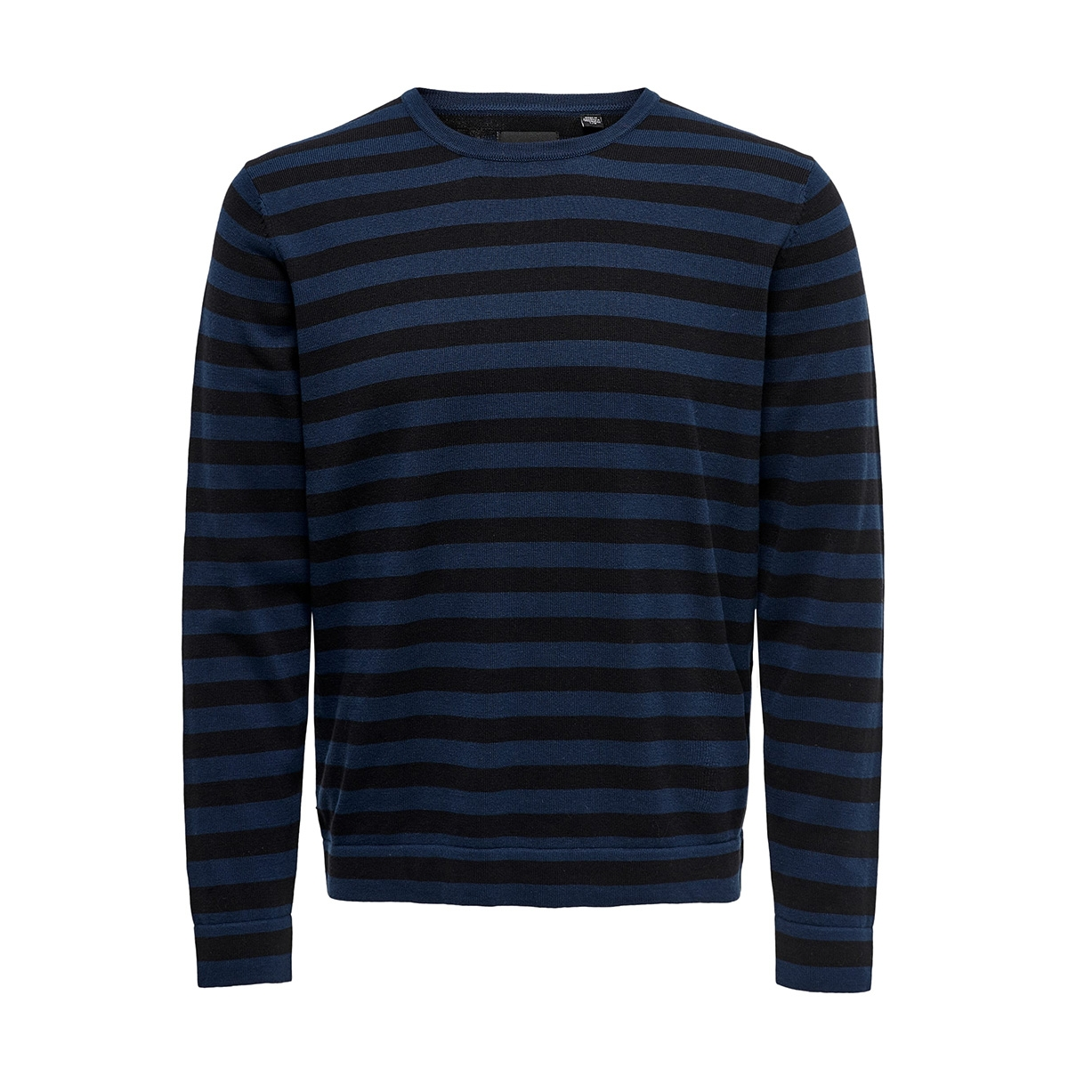 onsalex 12  crew neck knit 22014779 only & sons trui dress blues/black