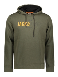 Jack & Jones sweater JCOMONDO SWEAT HOOD 12157721 Forest Night