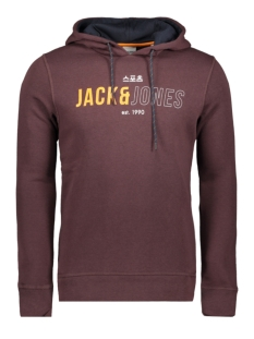 Jack & Jones sweater JCOMONDO SWEAT HOOD 12157721 Fudge