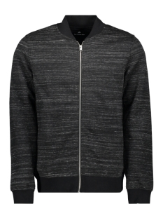 jprangus bla sweat zip cardigan - p 12156941 jack & jones vest black/slim fit
