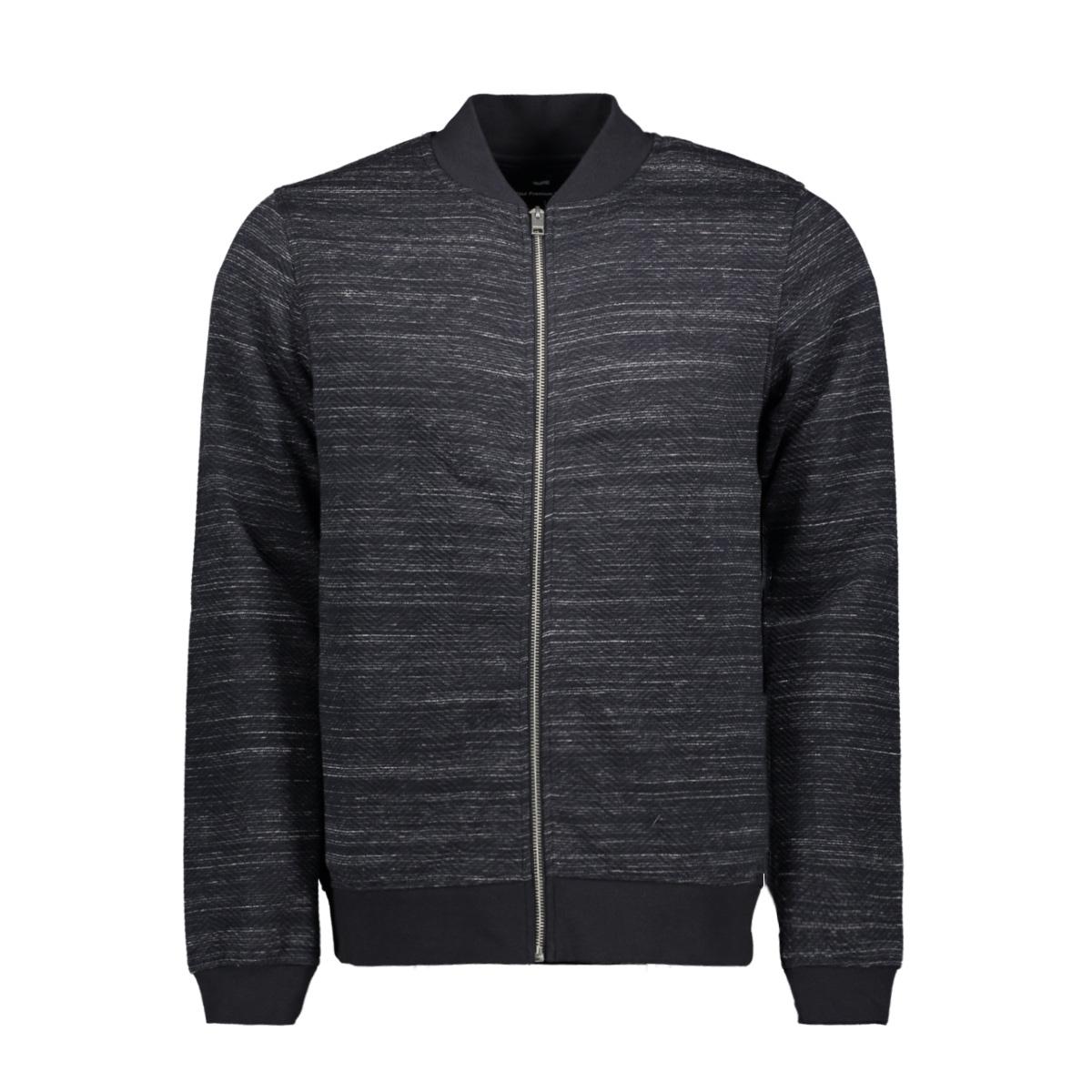 jprangus bla sweat zip cardigan - p 12156941 jack & jones vest dark navy/slim fit