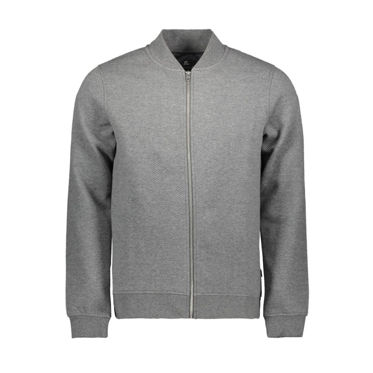 jprangus bla sweat zip cardigan - p 12156941 jack & jones vest grey melange/slim fit