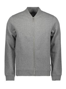 Jack & Jones Vest JPRANGUS BLA SWEAT ZIP CARDIGAN - P 12156941 Grey Melange/SLIM FIT