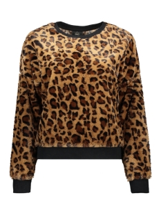 Only sweater ONLTIFFANY L/S O-NECK LEO SWT 15188118 Bone Brown/LEO