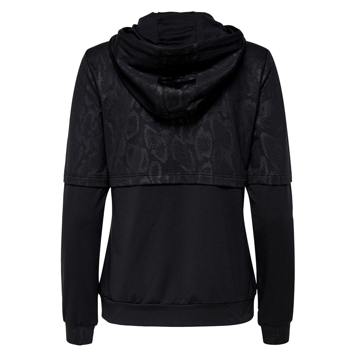 onppython zip hood sweat 15175696 only play sport vest black/w. black