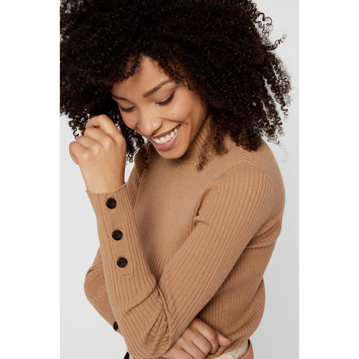 pchilda ls high neck knit 17098665 pieces trui tannin