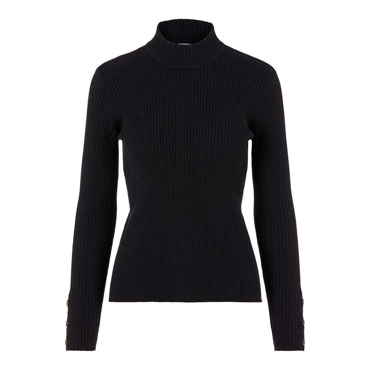 pchilda ls high neck knit 17098665 pieces trui black