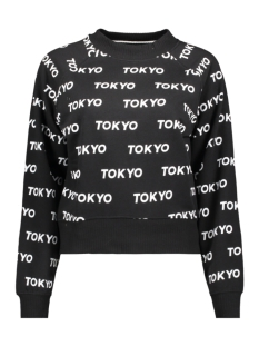Only sweater ONLAUBREE L/S O-NECK SWEAT SWT 15186544 Black/BRIGHT WHITE