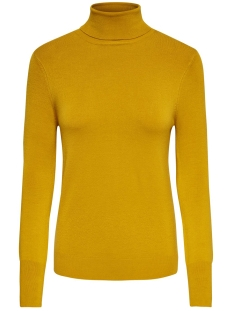 onlvenice l/s rollneck pullover knt 15183772 only trui golden yellow