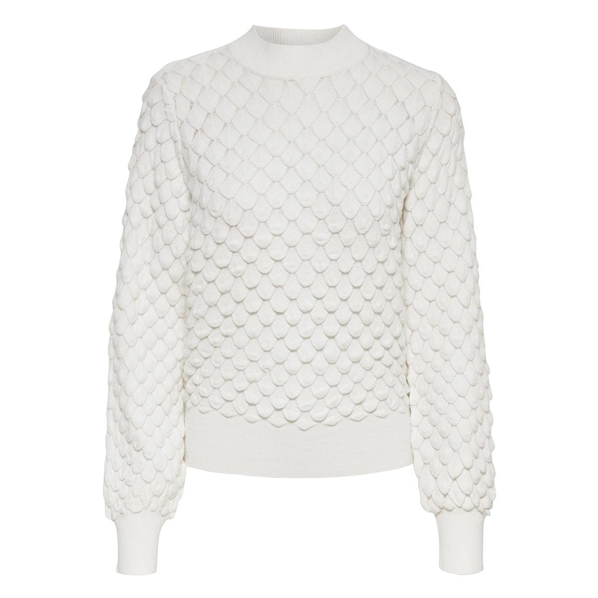 onlgillie l/s structure pullover kn 15188556 only trui cloud dancer