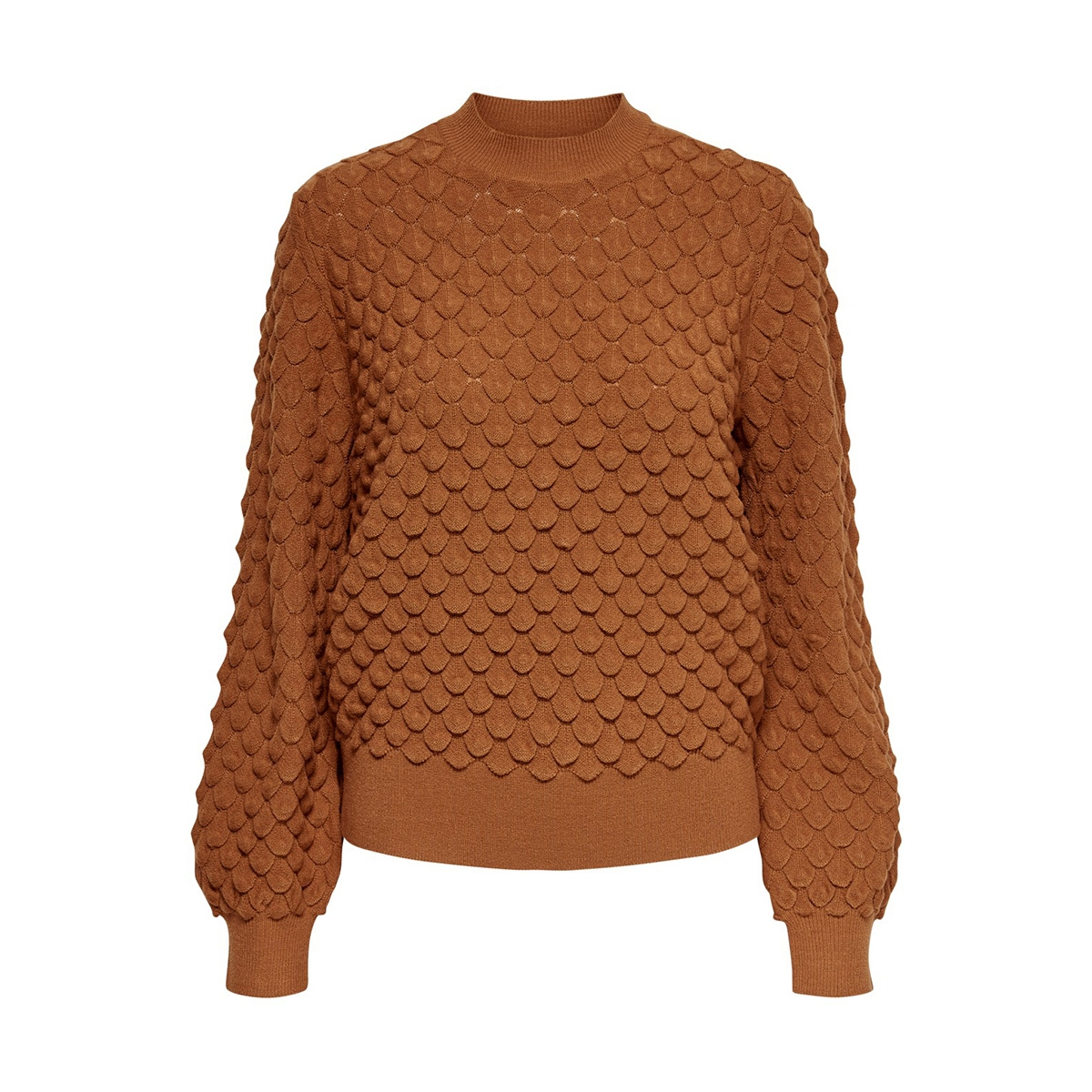 onlgillie l/s structure pullover kn 15188556 only trui ginger bread