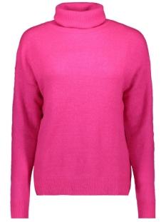 jdymia l/s neon roll neck pullover 15197152 jacqueline de yong trui neon pink