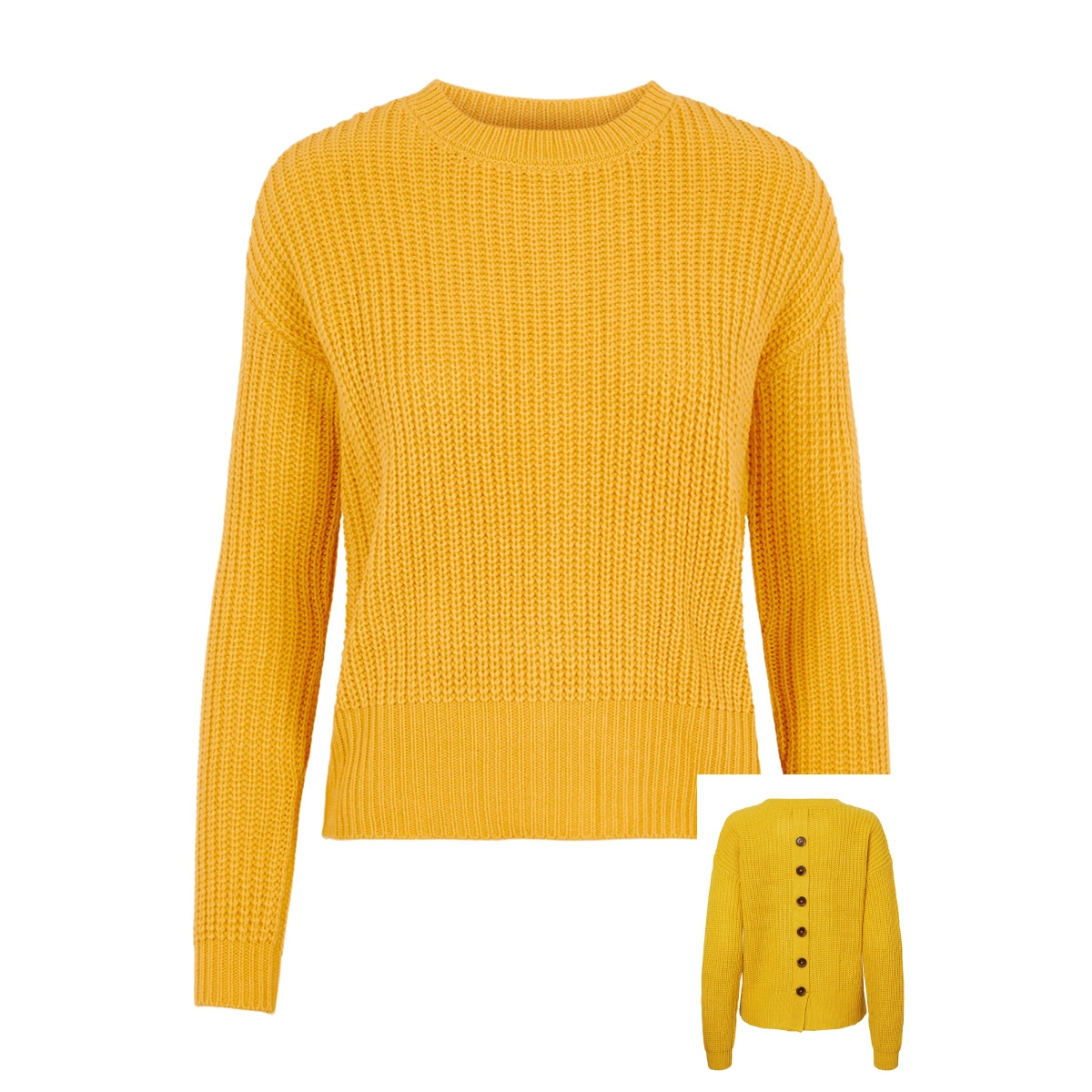 vmglendora button ls o-neck blouse 10216442 vero moda trui spicy mustard