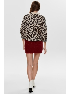 jdyleo l/s pullover knt 15184146 jacqueline de yong trui sand/leopard