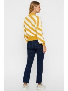 vmlabi stripe ls mockneck blouse 10216420 vero moda trui spicy mustard/w. pristine