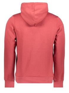 jorfranco sweat hood 12158105 jack & jones sweater brick red/slim