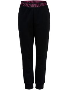 Only Play Sport broek ONPAERIES LOOSE BRUSH SWEAT PANTS 15175557 Black/W. BEET RED