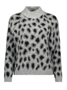 onljade l/s leo pullover cc knt 15184555 only trui light grey mela/w. mgm/bla