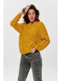 onlhavana l/s pullover knt noos 15187600 only trui golden yellow