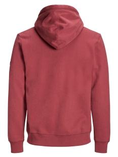 jorupton sweat hood 12158170 jack & jones sweater brick red/slim
