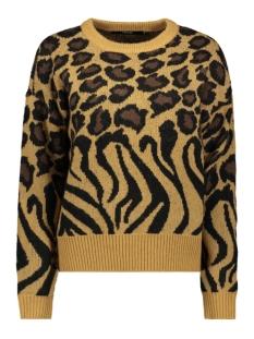 vmleonzeb ls o-neck blouse 10221674 vero moda trui tobacco brown