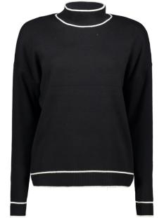 vmdelu ls highneck blouse ga 10216505 vero moda trui black/w. pristin