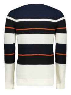 cotton stripe crewneck ckw196405 cast iron trui 2114