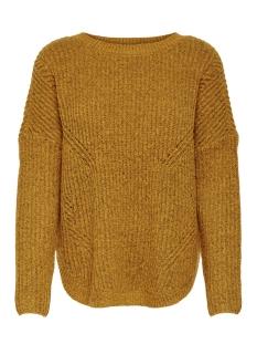 onlbernice l/s round pullover knt n 15139021 only trui golden glow/w. melange