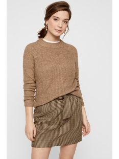 pcellen ls o-neck knit noos 17098262 pieces trui tannin