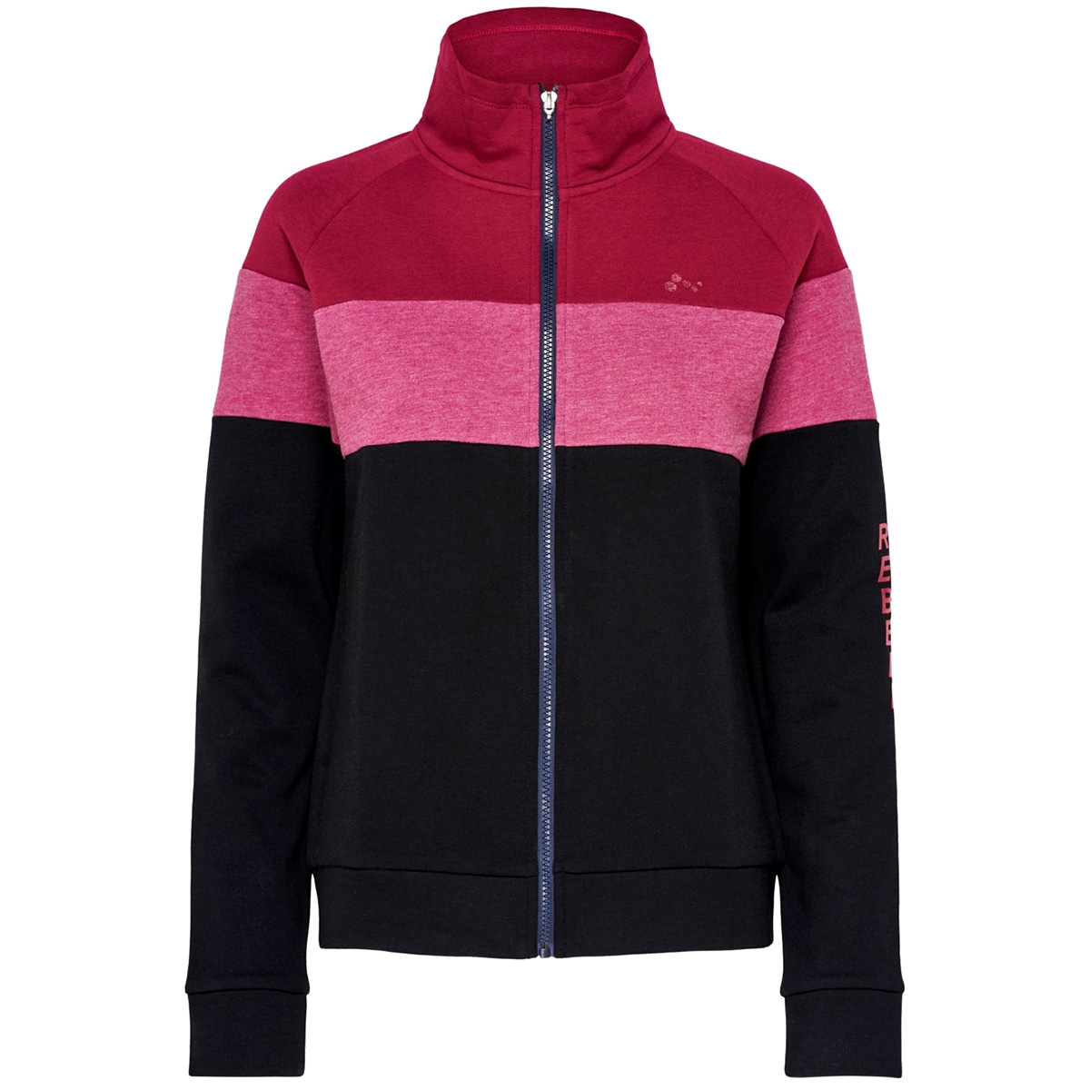 onpaeries zip high neck brushed swe 15175555 only play sport vest black/w. beet red