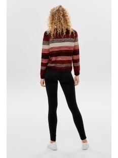onlkailana l/s pullover knt 15183711 only trui tawny port/w. whiteca