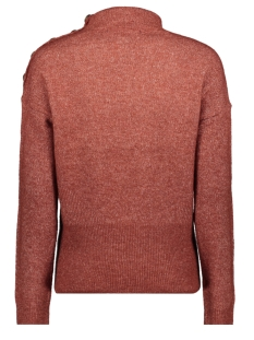 vmagoura horn ls highneck blouse 10216470 vero moda trui madder brown