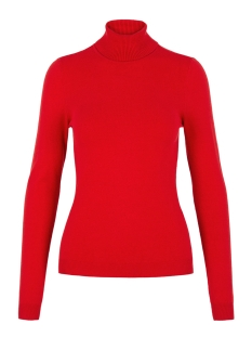 Vero Moda Trui VMHAPPY BASIC LS ROLLNECK BLOUSE BO 10215443 High Risk Red