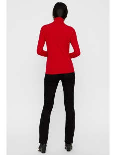 vmhappy basic ls rollneck blouse bo 10215443 vero moda trui high risk red