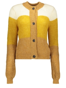 pchym ls  knit cardigan 17098759 pieces vest toasted coconut/arwo cdan
