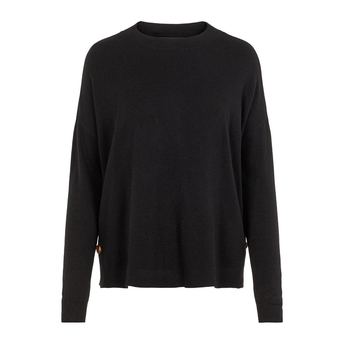 vmchou karis ls o-neck button bl 10215206 vero moda trui black