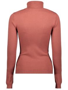 vmhappy basic ls rollneck blouse bo 10215443 vero moda trui mahogany