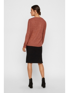 vmiva ls v-neck lace blouse color 10203293 vero moda trui mahogany/melange