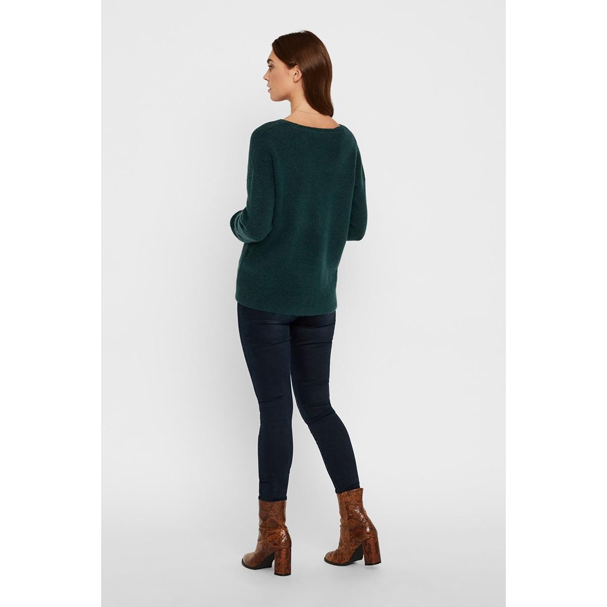 vmblakely iva ls v-neck rib blouse 10219172 vero moda trui ponderosa pine/melange