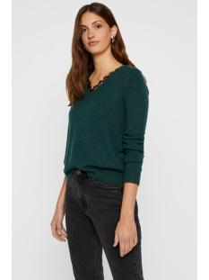vmiva ls v-neck lace blouse color 10203293 vero moda trui ponderosa pine/melange