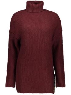 onltaliya l/s highneck pullover knt 15183712 only trui tawny port/w . melange