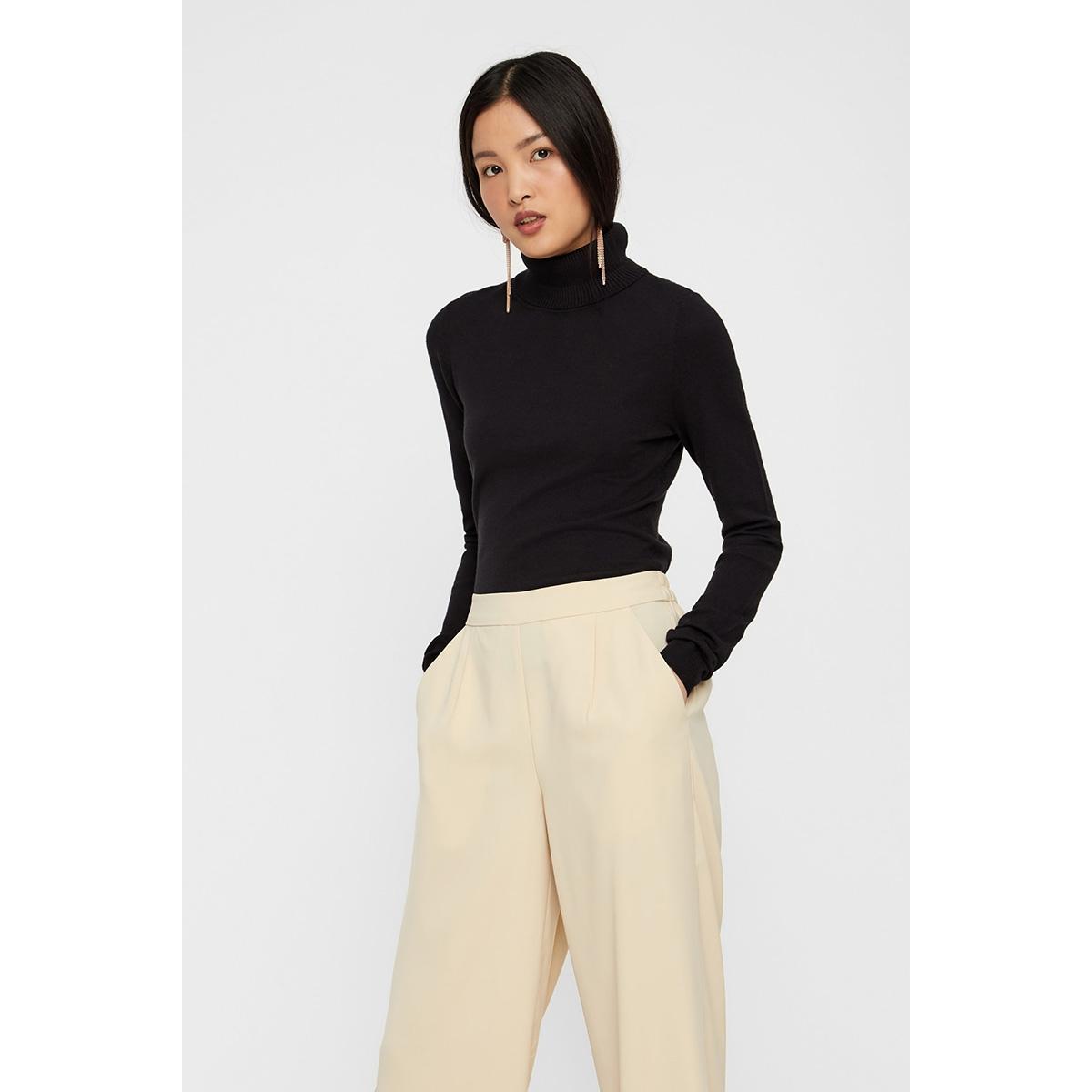 vmhappy basic ls rollneck blouse no 10222410 vero moda trui black